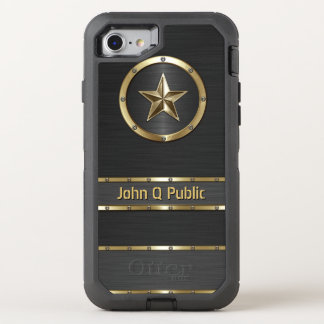 Modern Gold and Black OtterBox Defender iPhone 8/7 Case