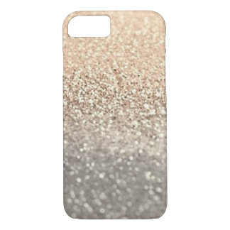 Modern Gold and Silver glitter iPhone 7 Case