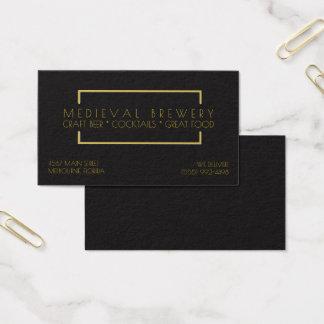 Modern Gold Black Restaurant Bar Business Business Card