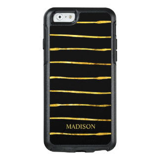 Modern Gold Black Stripe OtterBox iPhone 6/6s Case