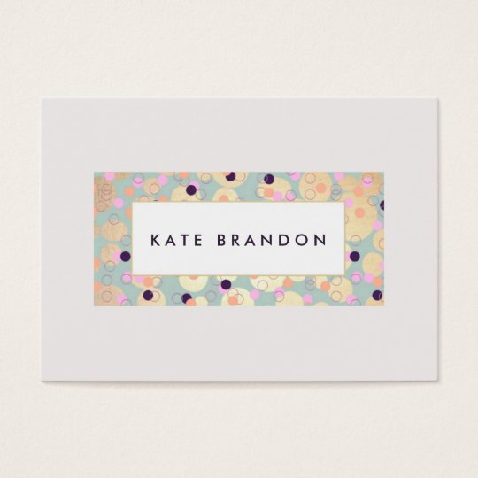 Modern Gold Circles and Colourful Confetti Plaque Business