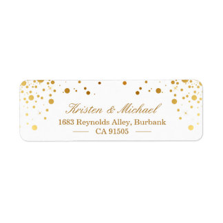 Modern Gold Confetti Dots | Stylish Elegant