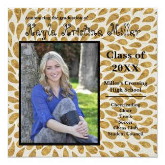 Modern Gold Design - Graduation Announcement