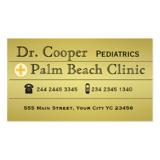 Modern Gold Doctor Clinic Appointment Rebooking Pack Of Standard Business Cards