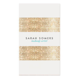 Modern Gold Faux Sparkly Sequins Makeup Artist Pack Of Standard Business Cards