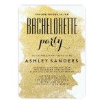 MODERN GOLD FOIL BACHELORETTE PARTY INVITATION
