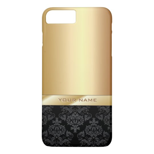 Modern Gold Foil Custom Name iPhone 7 Plus Case