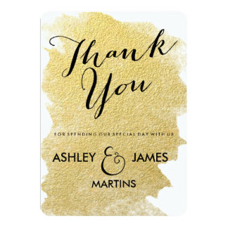 MODERN GOLD FOIL WEDDING THANK YOU CARDS CUSTOM INVITE