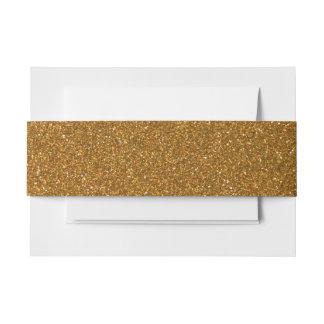 Modern Gold Glitter Invitation Belly Band