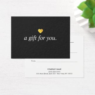 Modern Gold Heart Customer Gift Certificate