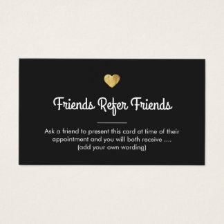 Modern Gold Heart Customer Referral Card