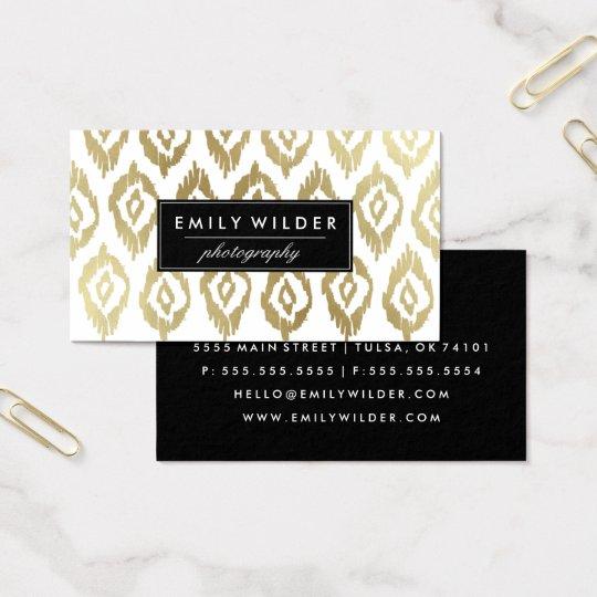 Modern Gold Ikat | Business Card