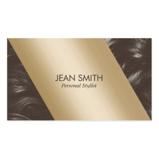 Modern Gold Label Tan Curly Hair Personal Stylist Pack Of Standard Business Cards