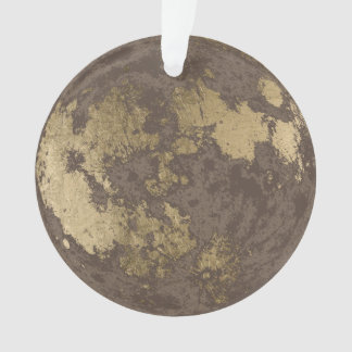 Modern Gold Moon Christmas Ornament