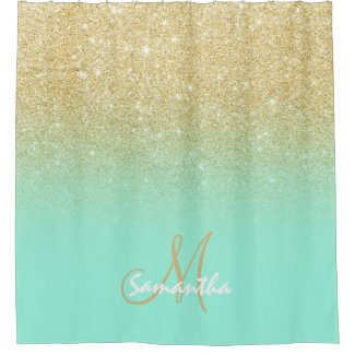 Modern Personalised Shower Curtain