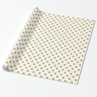 Modern Gold Polka Dot Foil Wrapping Paper