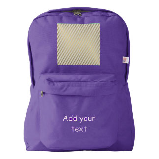 modern,gold,silver,diagonal,stripes,pattern,trendy backpack