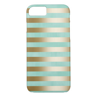 Modern Gold Stripes iPhone 7 Case