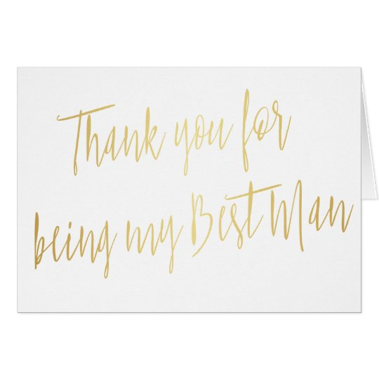 "Modern Gold ""Thank you for being my best"