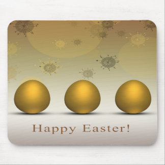 Modern Golden Easter Eggs - Mousepad