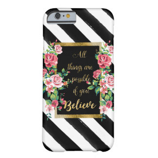 Modern golden inspirational  quote barely there iPhone 6 case