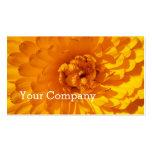 Modern Golden Yellow Marigold Flower Pack Of Standard Business Cards