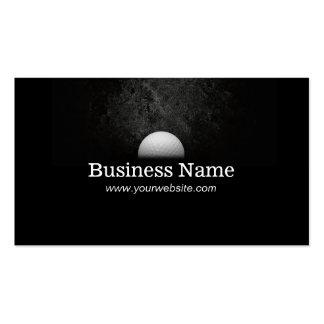 Modern Golf Ball in the Dark Golf Business Cards