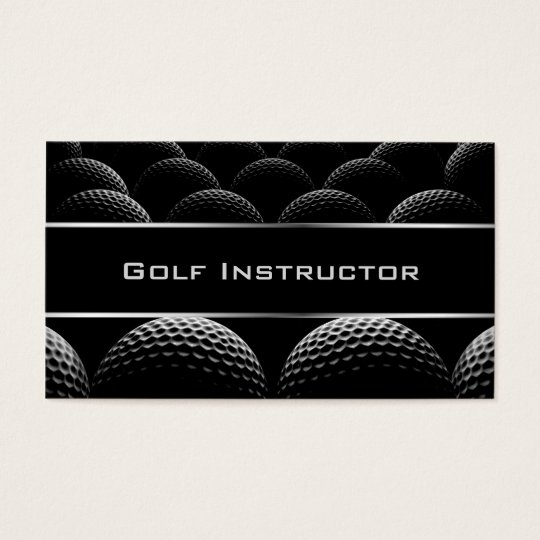Modern Golf Instructor Business Card