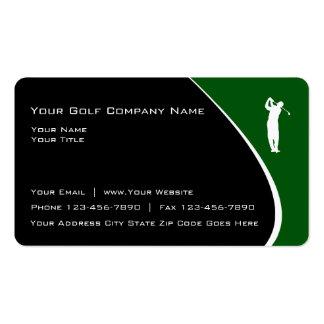 Modern Golf Theme Business Cards