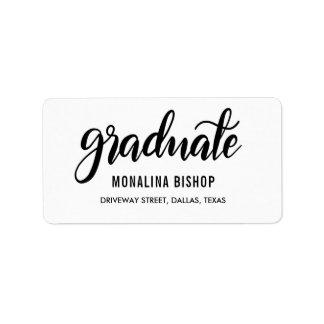Modern Graduate Simple Handwritten Script Label