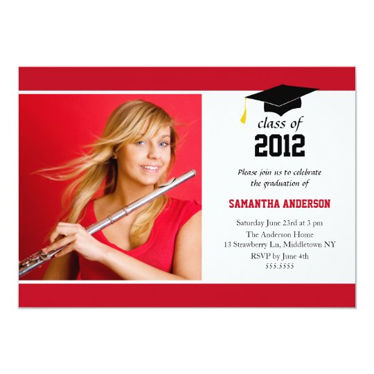 Modern Graduation Invitation - Red