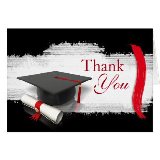 Modern Graduation Thank You Notes Greeting Card