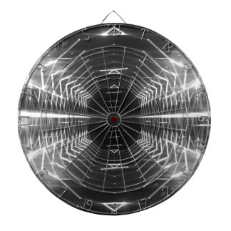 Modern Graphic Abstract Cool Glowing Vortex, Dartboard