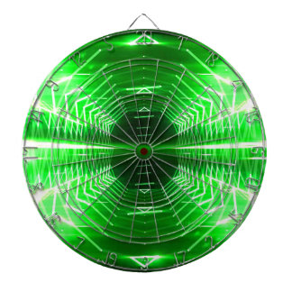 Modern Graphic Abstract Cool Glowing Vortex, Green Dartboards