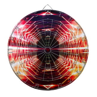 Modern Graphic Abstract Glowing Vortex, Inferno Dartboard