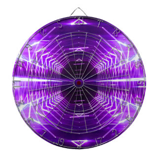 Modern Graphic Abstract Glowing Vortex, Purpl Dartboard