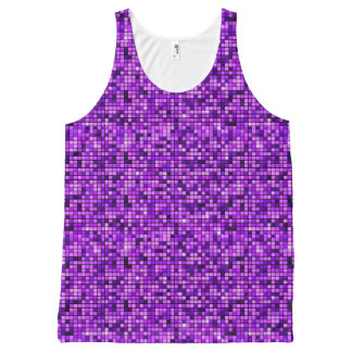 Modern Graphic Block Pattern, Lavender - All-Over Print Tank Top