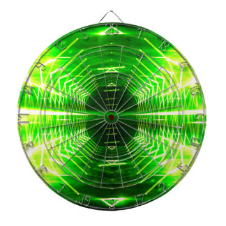 Modern Graphic Cool Glowing Vortex, Neon Green Dartboard