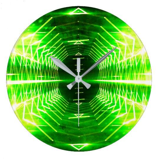 Modern Graphic Cool Glowing Vortex, Neon Green Large