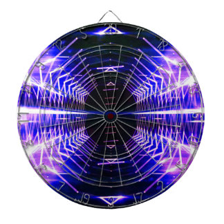 Modern Graphic Cool Glowing Vortex, Ultra Violet Dart Boards