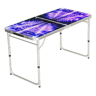 Modern Graphic Glowing Vortex - Beer Pong Table