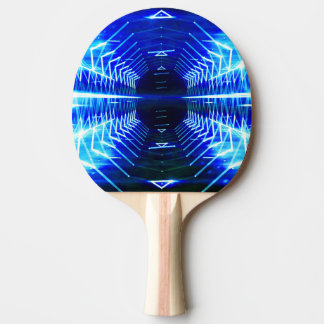 Modern Graphic Glowing Vortex - Ping Pong Paddle