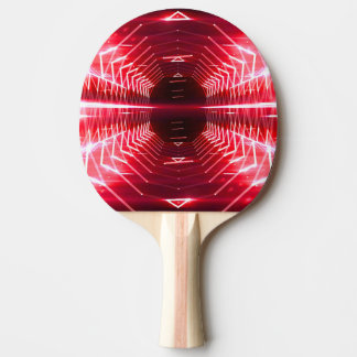 Modern Graphic Glowing Vortex, Red - Ping Pong Paddle