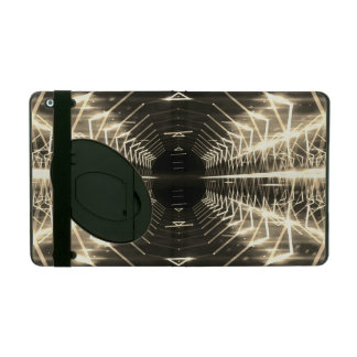 Modern Graphic Glowing Vortex, Sepia - iPad Cover