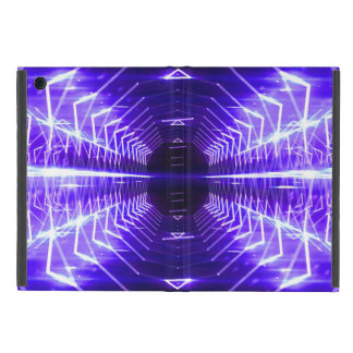 Modern Graphic Glowing Vortex, Violet - Cover For iPad Mini