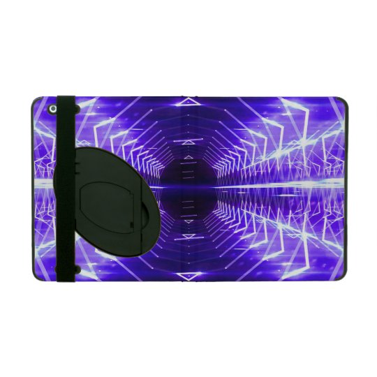 Modern Graphic Glowing Vortex, Violet - iPad Folio Case