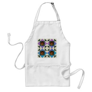 Modern Graphic Hourglass Purple, Blue Green Aprons