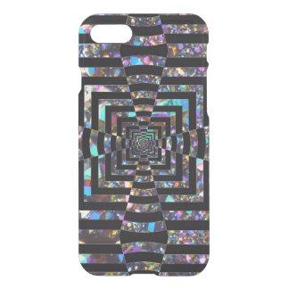 Modern Graphic Iridescent Optical Illusion Vortex, iPhone 8/7 Case
