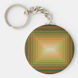 Modern Graphic Square Optical Illusion Art Keychain
