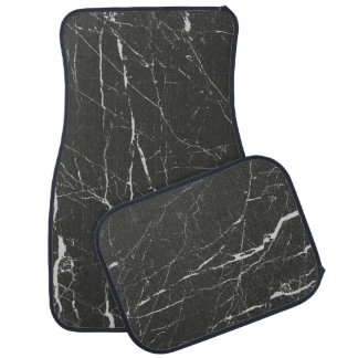 Modern Gray And Black Marble Pattern Car Mat